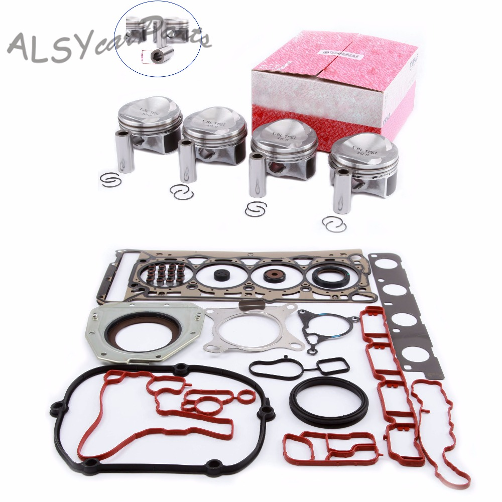 YIMIAOMO 06H 107 065 BS Engine Piston Cylinder Head Gasket Oil Seal Repair Kit For Audi A4 VW Passat B7 Golf Skoda 1.8T Pin 21mm|Pistons  Rings  Rods & Parts| |  - title=