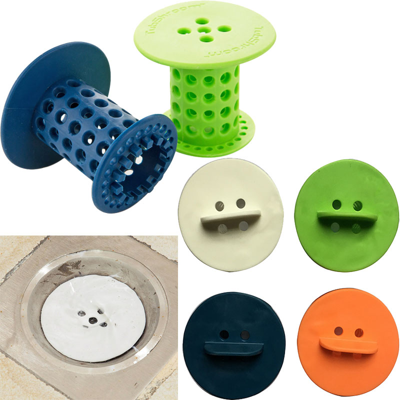 LanLan Bathtub Floor Drain Plug Holder Hair Catcher Removal Collector Clean Kit Water Stopper Floor Drain Bathroom Kitchen Basin
