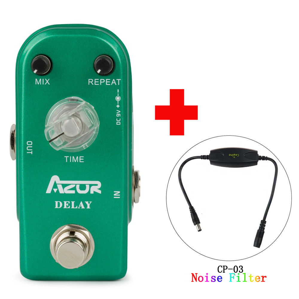 AP-306 Delay Guitar Effect Pedal Mini Size with True Bypass and Caline CP-03 Noise Filter mooer ensemble queen bass chorus effect pedal mini guitar effects true bypass with free connector and footswitch topper