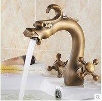 Dragon faucet antique basin dragon mixer dragon tap bathroom bronze faucet china dragon faucet mixer tap