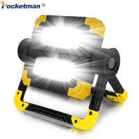 Brightest LED Searchlight 150W Portable Spotlight Waterproof Work Light High Quality Working Lamp handy Light Use 4*AA Battery