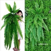 Висячие растения, искусственная зелень, Висячие папоротники, трава, растения с зелеными стенками, шелковые искусственные растения для живой изгороди, большие