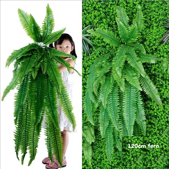 Hanging Plants Artificial Greenery Hanging Fern Grass Plants Green Wall Plant Silk Artificial Hedge Plants Large