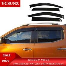 Car Window Deflector Visor For Nissan Navara Frontier 2015 2016 2017 2018 2019  NP300 цена