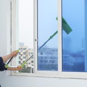 Image 1 - Nettoyage verre vadrouille Multi éponge nettoyant brosse éponge lavage télescopique haute hauteur fenêtres poussière brosse facile nettoyer les fenêtres