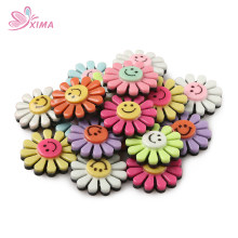XIMA 20pcs/lot Cute Cartoon DIY Accessories Flower Ladybug Accessories Diy Center Crafts Hair Accessories(China)