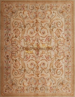 Top Fashion Tapete Details About8' X 10' Hand-knotted Thick Plush Savonnerie Rug Carpet Made To Order GLENCOVEgc162savyg9IVORY