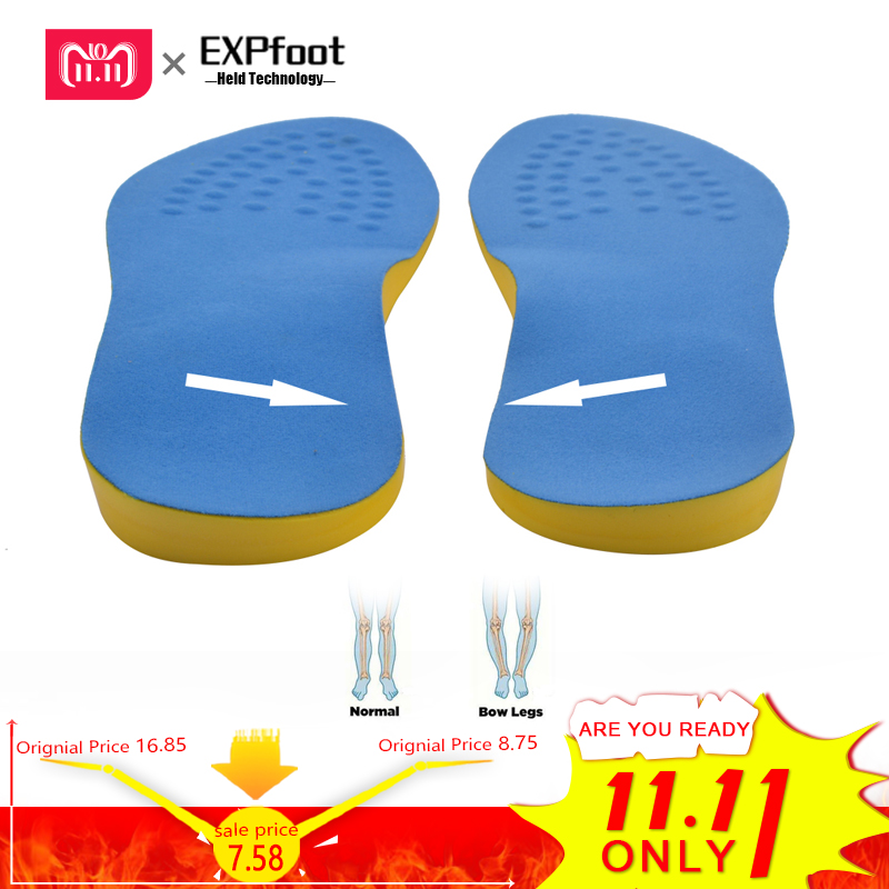 EXPfoot PU Cotton Unisex Bow Leg Valgus Varus Corrector Orthotic Insoles Comfortable Breathable Massaging Foot Pads Inserts soumit gel unisex o x leg valgus varus corrector orthotic insoles foot pads heel correction pads flatfoot support insert insoles