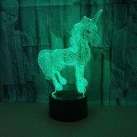 Yedi Renkli Dokunmatik Kontrol 3d Led Masa Lambası Uzaktan Dokunmatik Usb Ve Pil Güç Kaynağı masa lambası 3d Gece Lambası