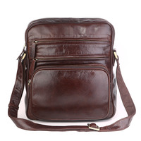 JMD Vintage Tan Leather Trendy Schouder Tas mannen Sling Tassen 7337C