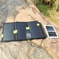Dual USB 5 V 20 W Carregador Solar Carregador de Painel Solar Dobrável de Pesca de Acampamento Caminhadas Viajar Carregador Solar Portátil.