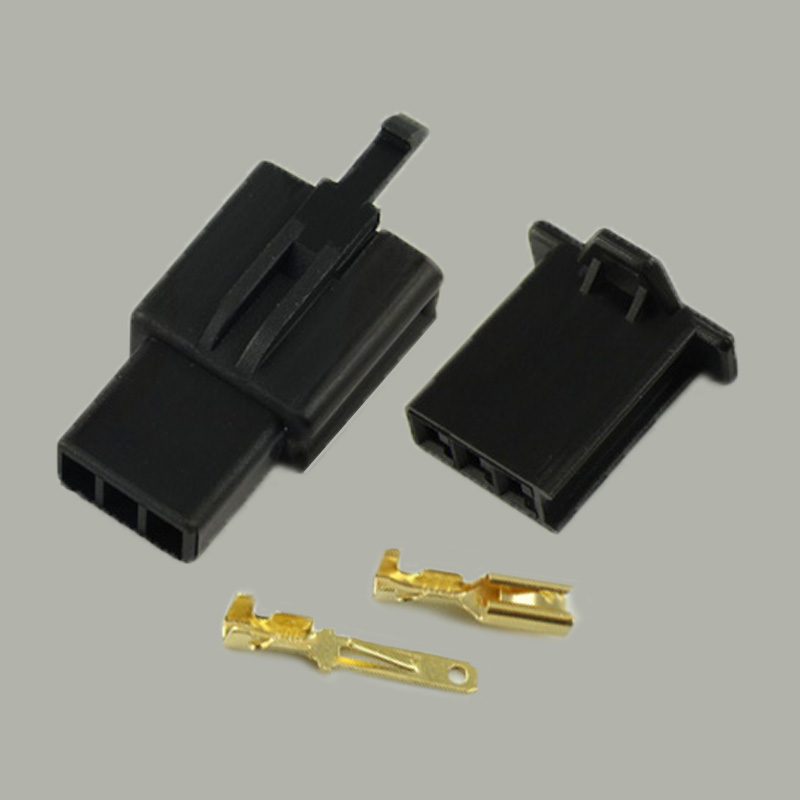 250 set 2 8mm Connector 3P Electrical Wire Auto Car 2 8 mm Plug jack for