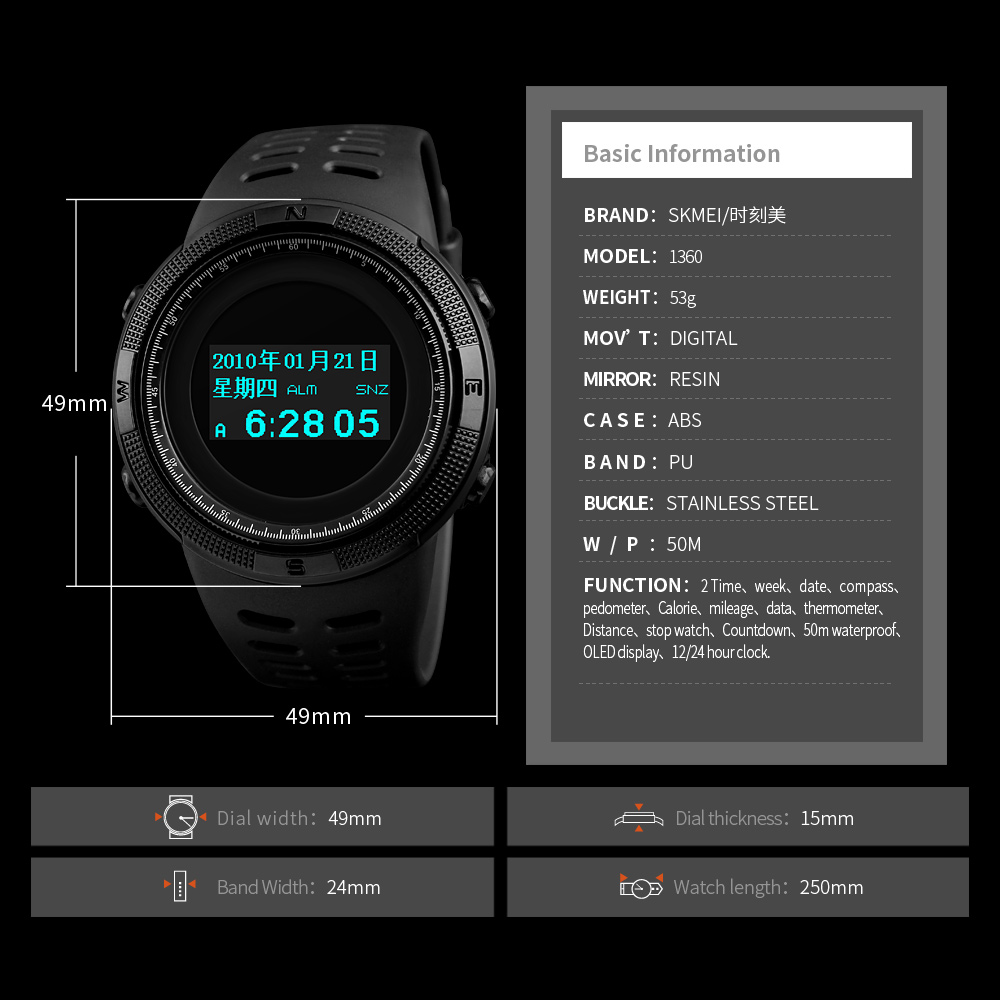 Watches Men's Watches North Edge Mens Outdoor Gps Sport Smart Digital Watches 5atm Waterproof Swimming Heart Rate Altimeter Compass Android Ios Band Fragrant Aroma
