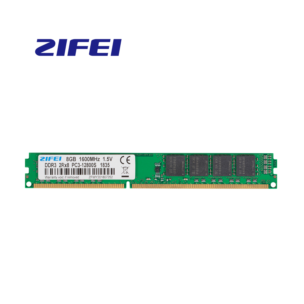 ZiFei ram <font><b>DDR3</b></font> <font><b>8GB</b></font> 4GB 1600MHz 1333MHz 1066MHz 240Pin UDIMM Desktop memory Fully compatible for <font><b>Intel</b></font> and AMD image