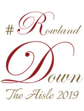 Rowland Down The Aisle Vinyl Sticker Custom Personalized Wedding Runner Decals Waterproof Decoration WD37