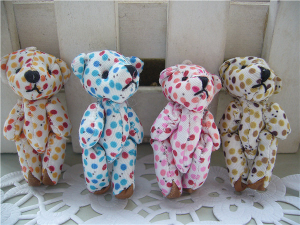 Joint bear Plush toy dolls doll decoration materia...