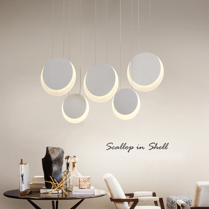 Led Pendant lamp Hanging light White Circular Moon Dimming  Pendant lamp For Dining Room Kitchen Bar counter Pendant lamparasLed Pendant lamp Hanging light White Circular Moon Dimming  Pendant lamp For Dining Room Kitchen Bar counter Pendant lamparas