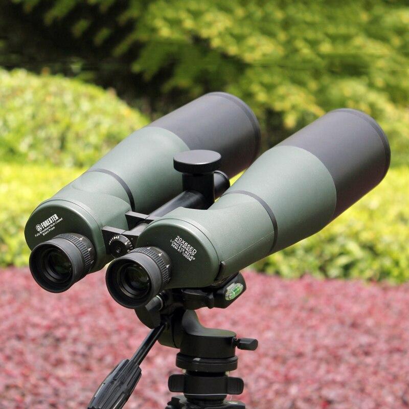 Poderoso 20x65 Lll Night Vision Binocular Binóculos HD À Prova D' Água de Vidro ED Lente Objetiva Da Lua Ao Ar Livre Telescópio Observação de Aves