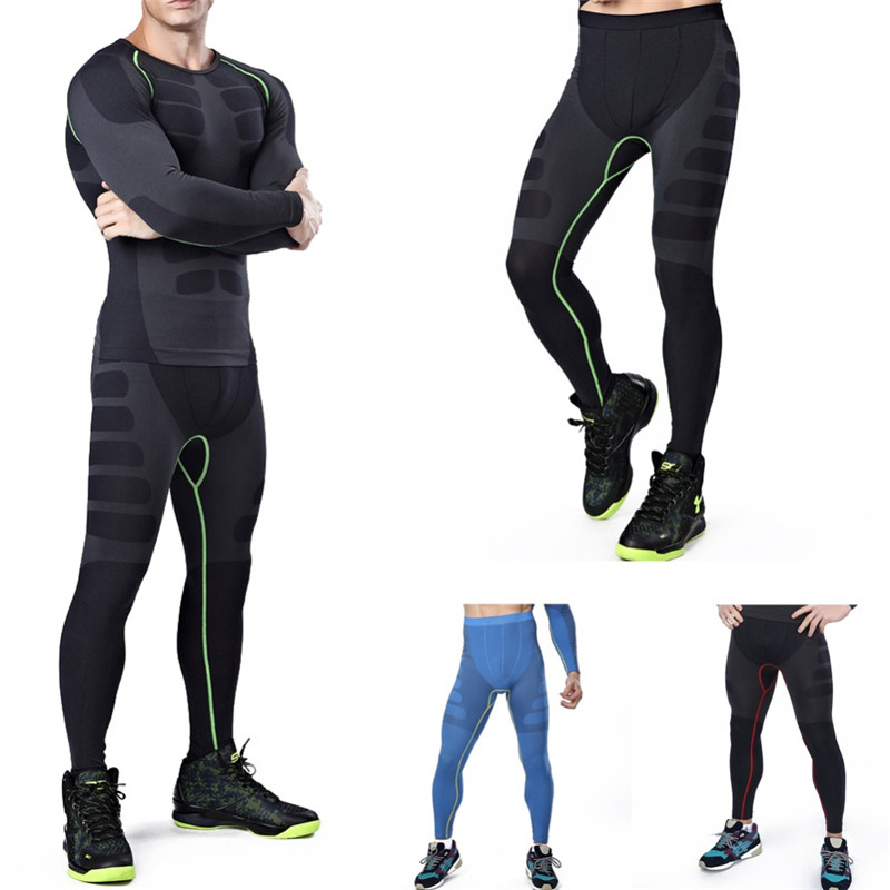 Mens Base Layer Compression Thermal Under Skin T-shirts Tops Wear Leggings