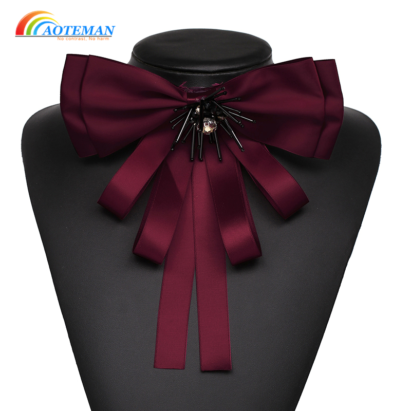 Fashion Ribbon Bowknot Brooches Pins for Women Vintage Statement Brooch Shirt adress Accessories Jewelry 2018 Hot Sale ...