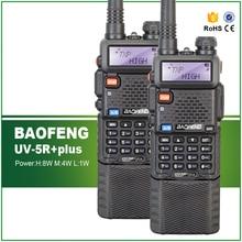 hot deal buy 2pcs baofeng uv-5r 8w max new version baofeng uv-8hx walkie-talkie dual band vhf&uhf two way radio portable ham transceiver