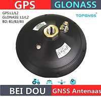 Alta qualidade gnss rtk antena gps glonass beidou antena, impermeável de alta precisão inquérito cors rtk antena receptor, topgnss