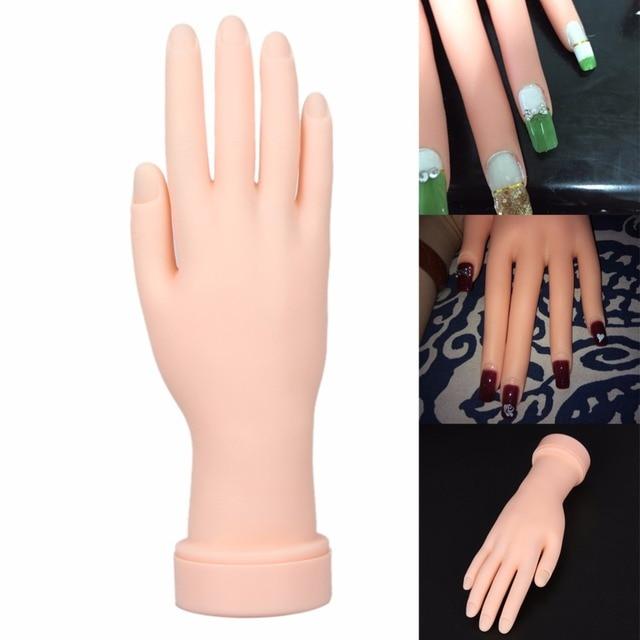 1Pcs Soft Plastic Salon Nails Training Flexional Hand Flexible ...