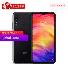 Küresel Rom Xiaomi Redmi Not 7 6 GB 64 GB Snapdragon 660 Octa Çekirdek 48MP Kameralar 6.3 ''FHD Bluetooth 5.0 ekran Cep Telefonu...