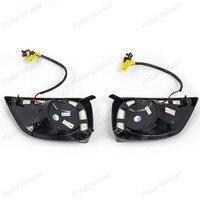 2 pcs/lot fog lamp for T/oyota V/ios 2014 2015Turn Signal 12v 6000K LED CAR DRL daytime running lights