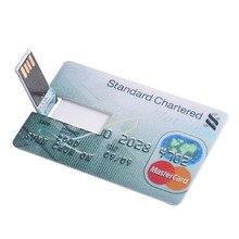 USB Flash Credit Card 16GB 32GB USB Flash Drive Pen Drive 32GB 64GB Pendrive 4GB 8GB Memory External Storage USB 2.0 Flash Card
