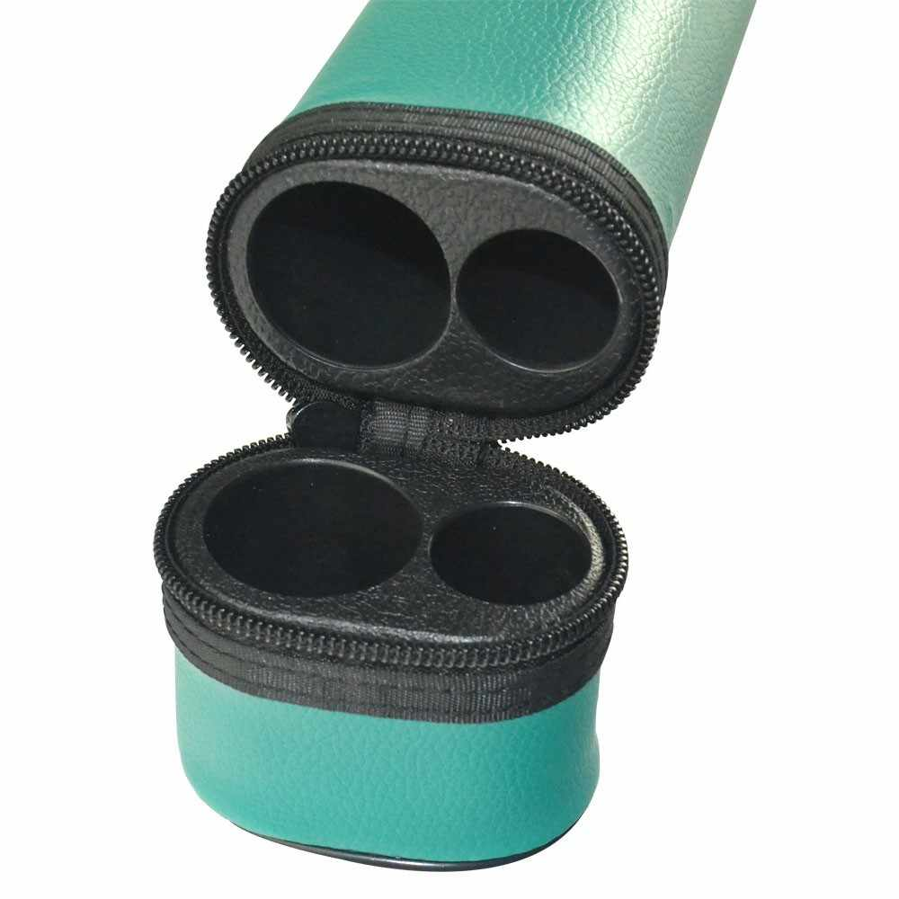 CUESOUL Dos Tonos Caso Tubo 1 Butt 1 Eje De Billar Taco de Billar Bote De 1/2 Articulado Taco de Billar Cue Stick Caja Azul Amarillo Color