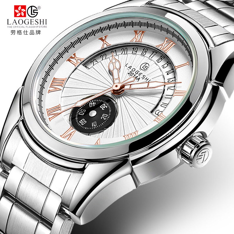 Laogeshi Mens High Quality Casual Automatic mechanical Watches Men Top Brand Luxury Business full steel watch Calendar Man Clock new business watches men top quality automatic men watch factory shop free shipping wrg8053m4t2