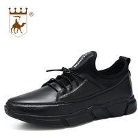 BACKCAMEL Для Мужчин's Повседневная кожаная обувь однотонная дышащая легкий амортизацию Вулканизированная обувь Размер 38-44, оптовая продажа выс...