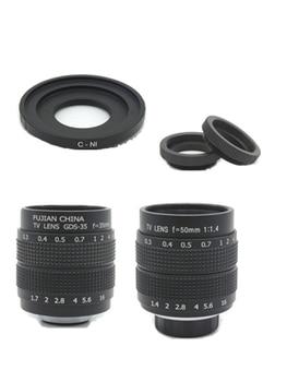 2in1 Fujian CCTV Lens 35mm f1.7 Lens/ 50mm f1.4 Lens Mount Ring Kit Monitor lenses for Nikon 1 AW1 S2 J4 J3 J2 J1 V3 V2 V1