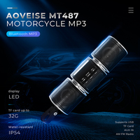 Zeepin MT487 Motorcycle MP3 Player Music Bluetooth Water resistant LED Display Stereo Speaker FM Radio for Motor