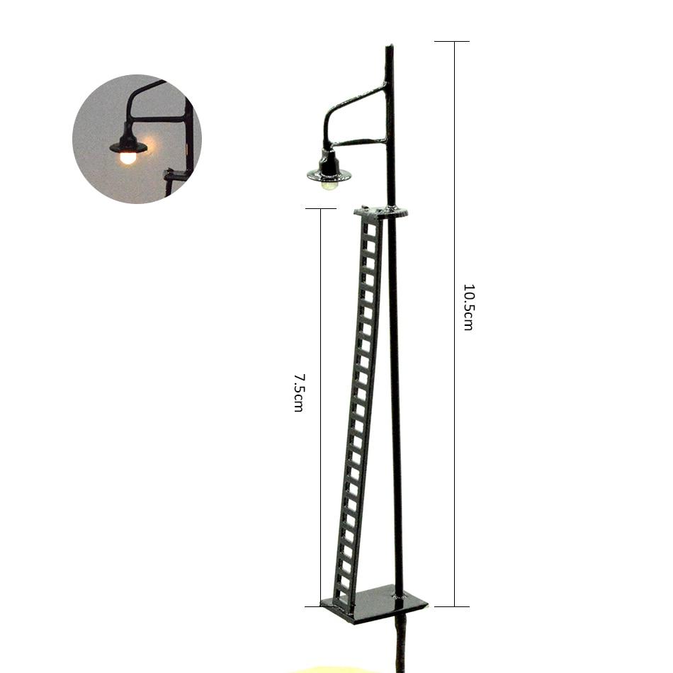 Indicator light signal light 3V warning LED lamp security alarm black light pole for railroad model train layout in Model Building Kits from Toys Hobbies