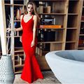 2017 sexy bandage dress bodycon red black HL women long evening gown robe de soiree Elegabnt backless vestidos de festa dresses