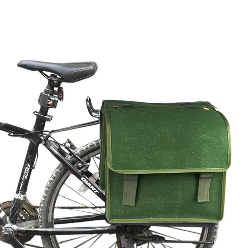 Cycling Bicycle Rack Back Rear Seat Large Storage Bag Carrier Double Pannier NEW