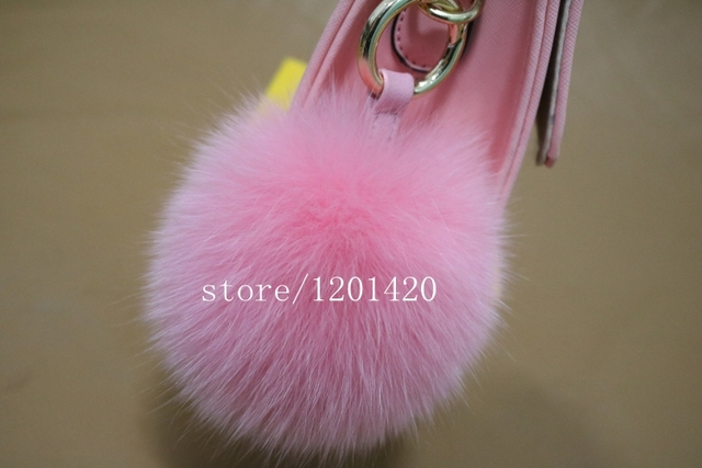 2016 New DesignBag  Charm Real Raccoon Fur Pom Accessories Chain 6 Colors Big Size Monster furry Ball Bag bug Fur Keychain