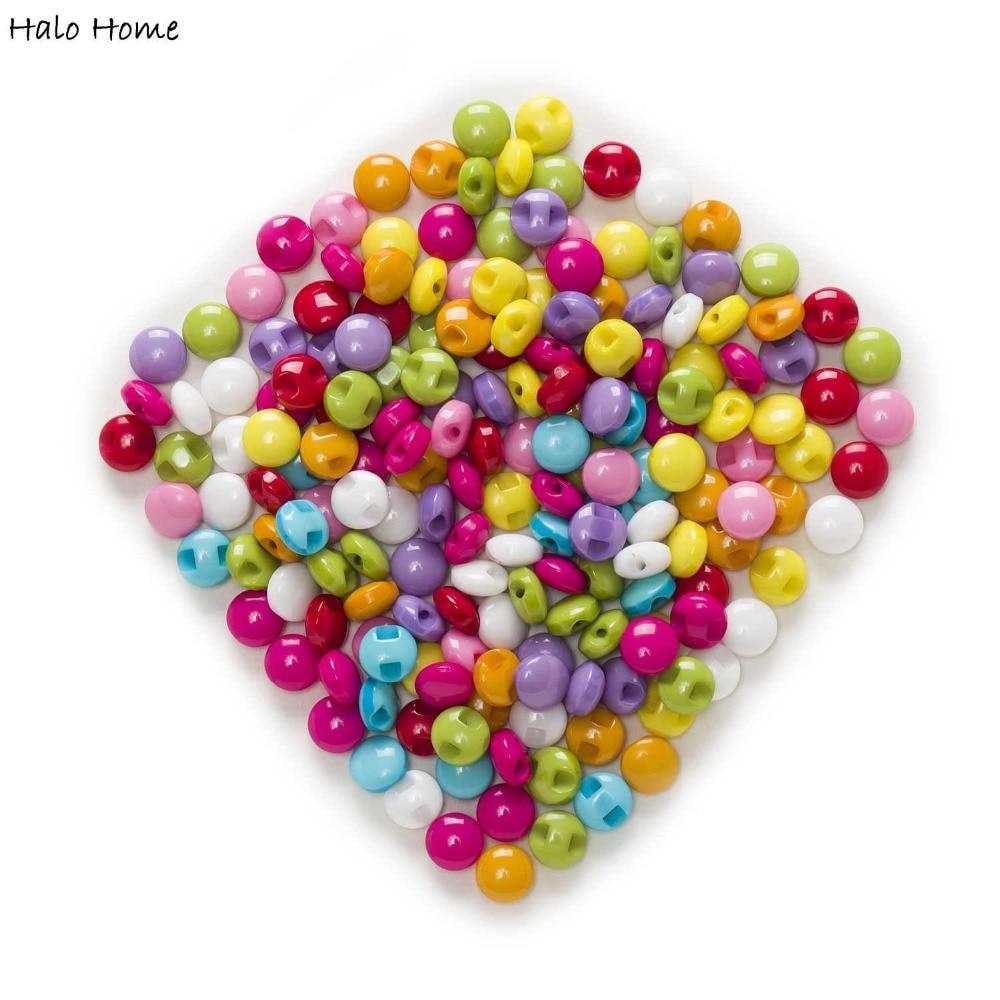 Candy Chocolate 100pcs Round Shank Eye Resin Button Sewing - Seni, kraf dan jahitan - Foto 5