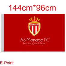 1 piece 144cm*96cm size AS Monaco FC Flying flag A