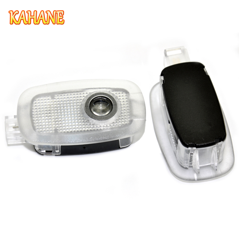 KAHANE 2x LED Car Door Light Projector Courtesy Laser Light Ghost Shadow Light FOR Mercedes Benz W204 W211 W212 W216 C207 C197 2x white canbus led door courtesy footwell vanity mirror trunk lights for mercedes w204 w212 w207 w221 w216 r230 w251 w164 w463