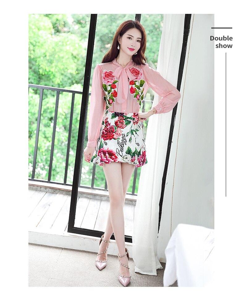 Vêtements Europe Mode Grande Wld09129 Merveilleux Marque De Chemises Piste amp; Femmes Taille 2018 Luxe Design Blouses wUvqZF