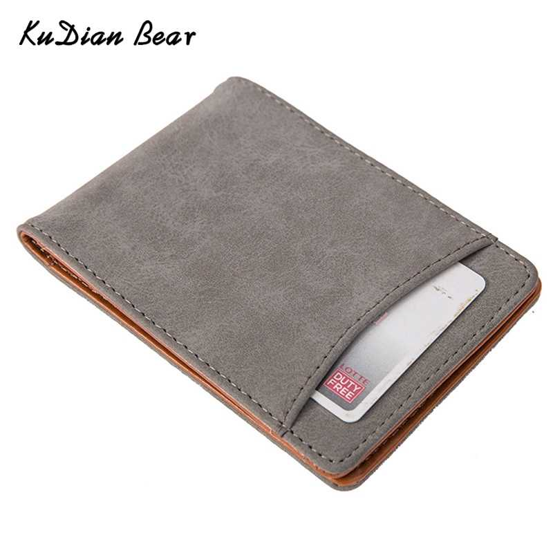 KUDIAN BEAR Men Money Clip Wallets Rfid Minimalist Car-Covers Magnet Clamps for Money Holder Carteras Hombre-- BID148 PM49