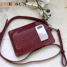 2019 New Genuine Leather Card Holder Men Women Cow Leather With Crocodile Pattern Wallet Free Custom Name ID Credit Card Wallet(China)
