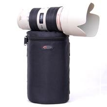 Новый Lowepro чехол для объектива сумка водостойкий Фото чехол для стандартные увеличивающие линзы черный Canon Nikon