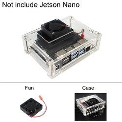 Przezroczysty akryl sprawa dla NVIDIA Jetson nanozestaw pokładzie tarcza | wentylator chłodnicy chłodzenia akcesoria