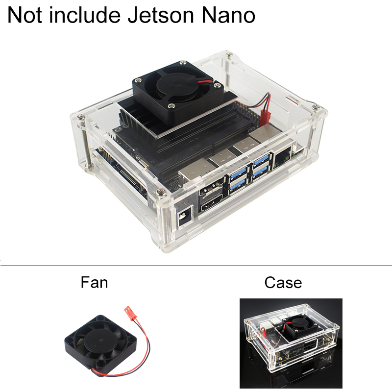 Transparent Acrylic Case for NVIDIA Jetson Nano Kit Board Shield | Cooling Fan Radiator Accessories image