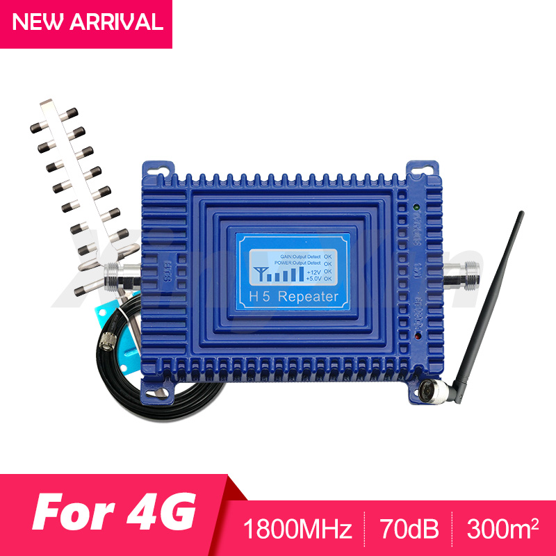 4G DCS LTE 1800 GSM Cellular Amplifier Cell Phone Signal Repeater LTE 4G 1800mhz Signal Booster Amplifier Kit LCD Display 70dB