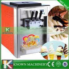 Powerful frozen evaporator color spraying material table top soft ice cream machine